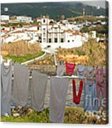 Laundry Day In Azores Acrylic Print