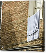 Laundry Hanging From Line, Tuscany, Italy Acrylic Print by Paul Edmondson