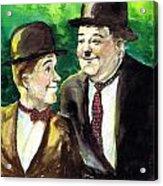 Laurel And Hardy Acrylic Print