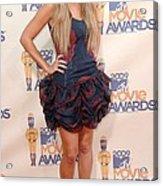 Lauren Conrad Wearing A Moschino Dress Acrylic Print
