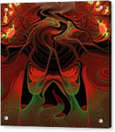 Red Hot Lava Acrylic Print
