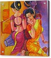Lavani -indian Folk Dance. Acrylic Print