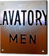 Lavatory Mens Acrylic Print