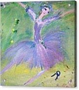 Lavender Ballerina Acrylic Print