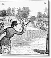 Lawn Tennis, 1883 Acrylic Print