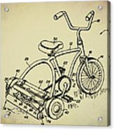 Lawnmower Tricycle Patent Acrylic Print
