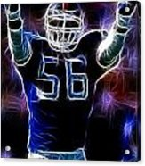Lawrence Taylor  Acrylic Print by Paul Ward