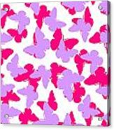 Layered Butterflies  Acrylic Print