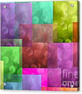 Layered Tiles Abstract Acrylic Print