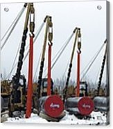 Laying A Gas Pipe Acrylic Print