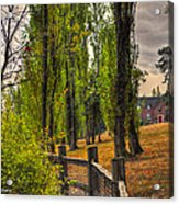 Le Chateau A Fall Day In The Nw Acrylic Print by Sarai Rachel