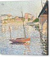 Le Clipper - Asnieres Acrylic Print by Paul Signac