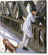 Le Pont De L'europe Acrylic Print by Gustave Caillebotte