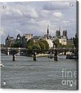 Le Pont Des Arts. Paris. France Acrylic Print by Bernard Jaubert