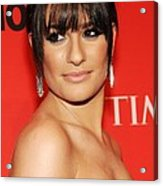 Lea Michele At Arrivals For Time 100 Acrylic Print