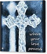 Lead Me To The Cross With Lyrics Acrylic Print