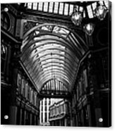Leadenhall Market Black And White Acrylic Print