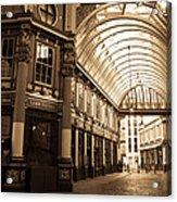 Leadenhall Market London Sepia Toned Image Acrylic Print