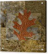 Leaf Life 01 -brown 01b2 Acrylic Print