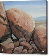 Leaning Rocks Acrylic Print