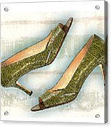 Leapin Green Lizards Pumps Acrylic Print