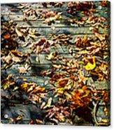 Leaves On The Boardwalk Acrylic Print