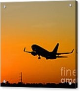 Leaving On A Jet Plane Acrylic Print