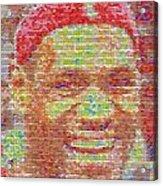 Lebron James Pez Candy Mosaic Acrylic Print