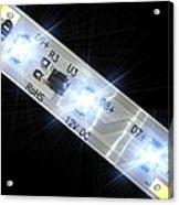 Led Light Strip, Macrophotograph Acrylic Print