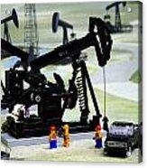 Lego Oil Pumpjacks Acrylic Print