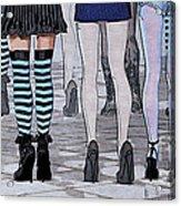 Legs Acrylic Print by Jutta Maria Pusl