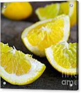 Lemon Quarters Acrylic Print