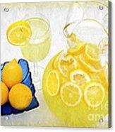 Lemonade And Summertime Acrylic Print