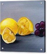 Lemons And Grapes Acrylic Print
