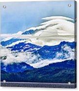Lenticular And The Chugach Mountains Acrylic Print