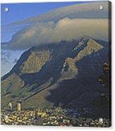 Lenticular Cloud Over Table Mountain Acrylic Print