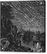 Leonid Meteor Shower, 1833 Acrylic Print by Granger