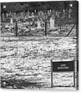 Leper Graveyard On Robben Island Acrylic Print