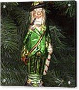 Leprechaun Christmas Ornament Acrylic Print