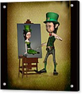 Leprechaun Painter Acrylic Print