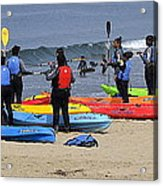 Lessons In Kayaking Acrylic Print
