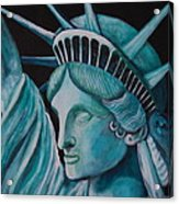Let Freedom Ring Acrylic Print by Janna Columbus