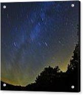 Letchworth Star Trails Acrylic Print