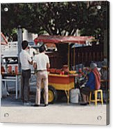 Lets Do Lunch Mexico Series By Tom Ray Acrylic Print