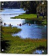 Let's Kayak Acrylic Print