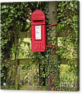 Letterbox In A Hedge Acrylic Print