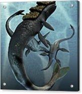 Leviathan And Plesiosaur, Artwork Acrylic Print