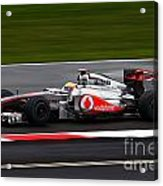 Lewis Hamilton Silverstone 2011 Acrylic Print