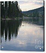 Lewis Lake With Waterfowl Acrylic Print