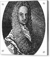 Lewis Morris (1671-1746) Acrylic Print by Granger